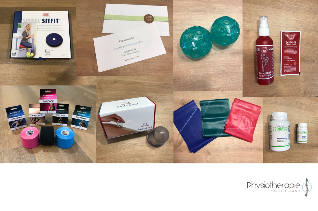 Physiotherapie ZüriOberland Produkte