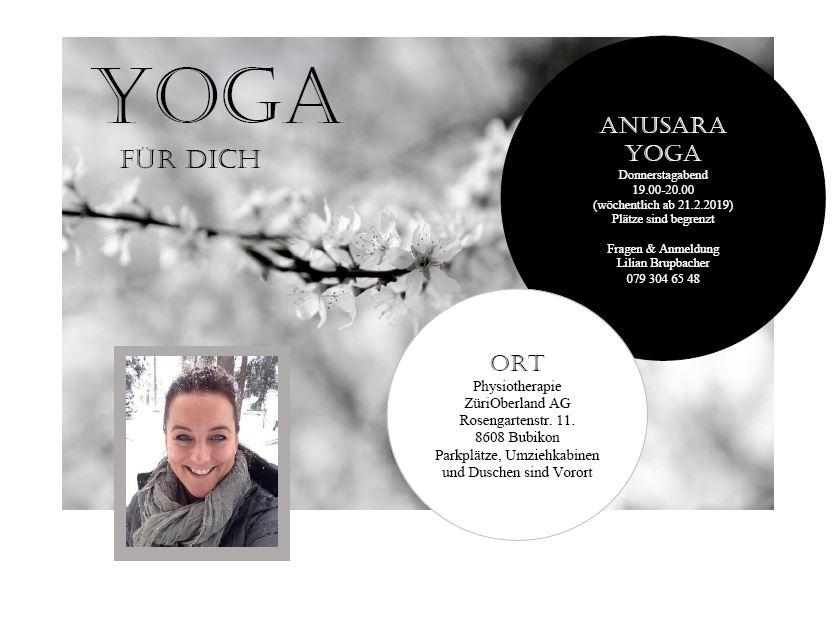 Physiotherapie ZüriOberland AG Yoga für dich